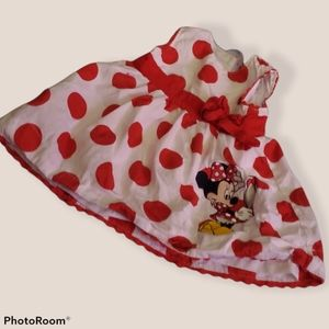 Baby Girls Minnie Mouse Dress 👗 3mon